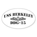 USS BERKELEY Sticker (Oval)