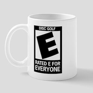 Rated E Disc Golf Mug