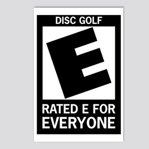 Rated E Disc Golf Postcards (Package of 8)
