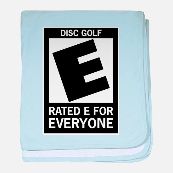 Rated E for Everyone Disc Gol baby blanket