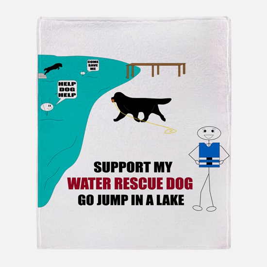 Unique Water rescue Throw Blanket