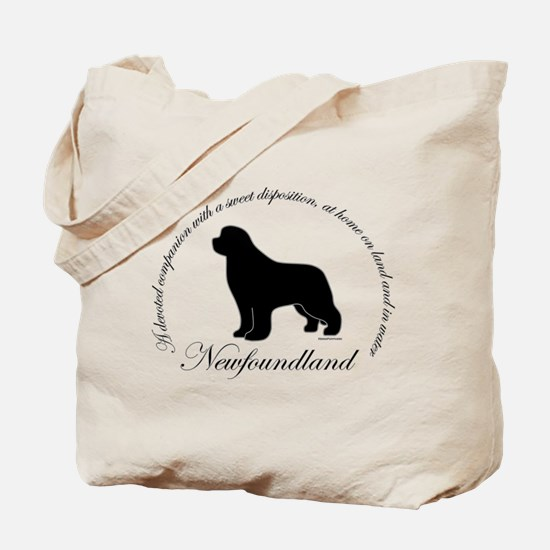 Devoted Black Newf Tote Bag