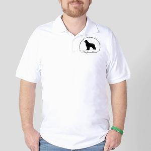 Devoted Black Newf Golf Shirt