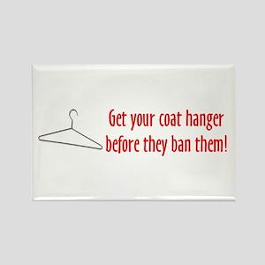 Abortion: Coat Hanger Logic Rectangle Magnet (10 p