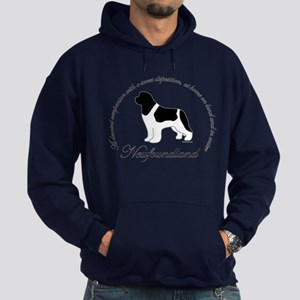 Devoted Landseer Newf Hoodie (dark)