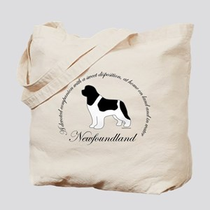 Devoted Landseer Newf Tote Bag