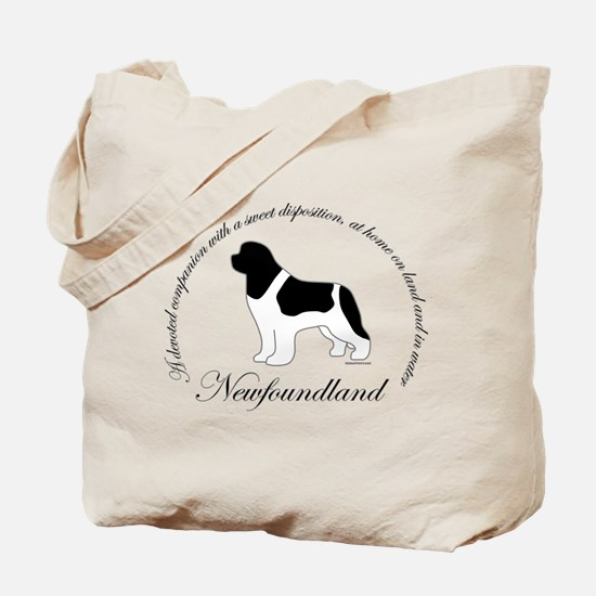 Devoted Landseer Newf Tote Bag