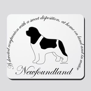 Devoted Landseer Newf Mousepad