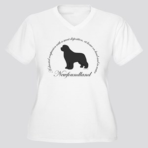 Devoted Gray Newf Women's Plus Size V-Neck T-Shirt
