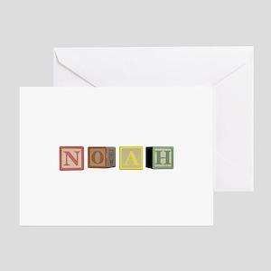 Noah Alphabet Block Greeting Card
