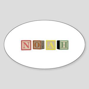 Noah Alphabet Block Sticker (Oval)