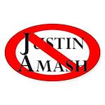 Slash Through Justin Amash Oval Car Sticker