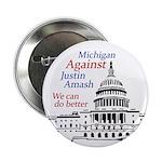 Michigan Against Amash campaign button