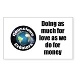 As Much for Love Sticker (Rectangle)