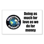 As Much for Love Sticker (Rectangle 50 pk)