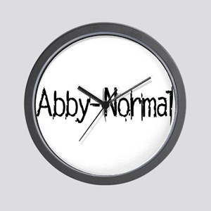 Abby Normal 2 Wall Clock