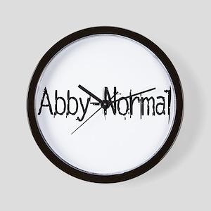Abby Normal 2 Wall Clock