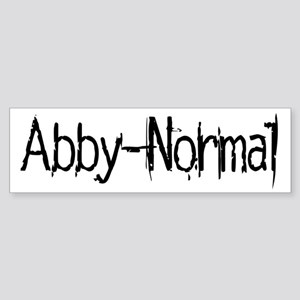 Abby Normal 2 Sticker (Bumper)