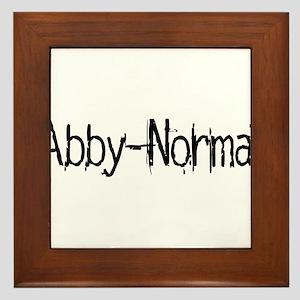 Abby Normal 2 Framed Tile