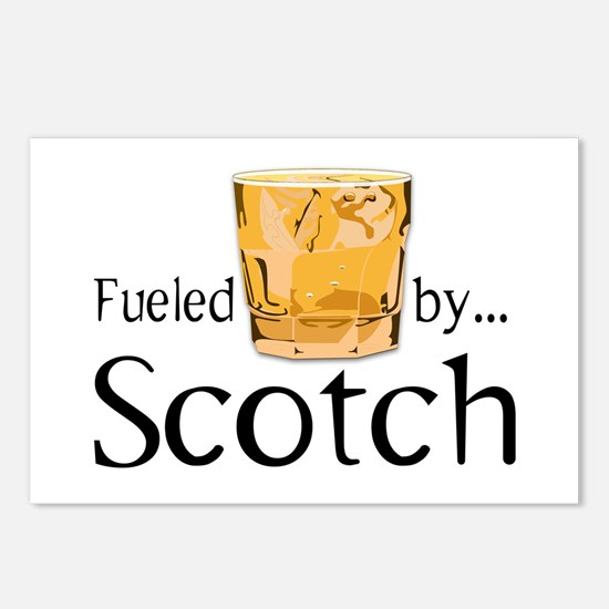 Fueled by Scotch Postcards (Package of 8)