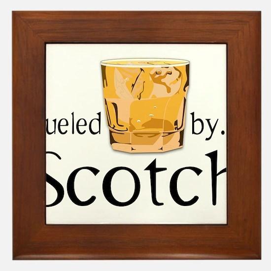 Fueled by Scotch Framed Tile