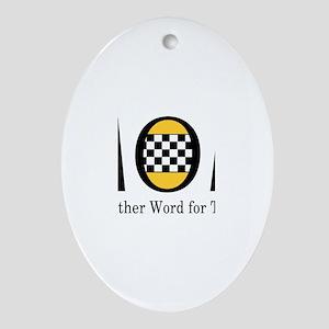 Taxi Mom Ornament (Oval)