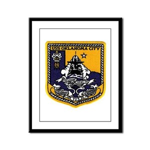 USS Oklahoma City SSN 723 Framed Panel Print