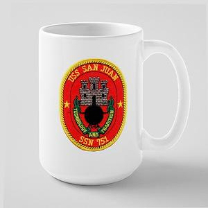 USS San Juan SSN 751 Large Mug