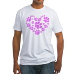 Paws Heart Fitted T-Shirt