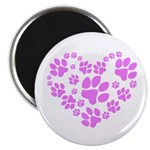Paws Heart Magnet