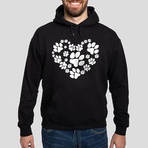 Paws Heart Hoodie (dark)