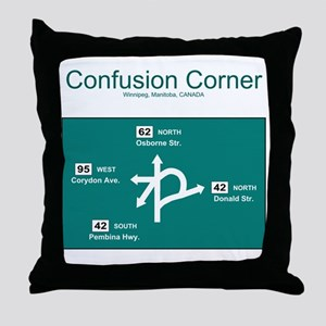 Confusion Corner Throw Pillow