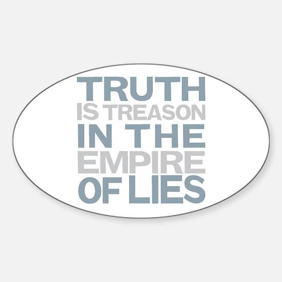 Truth is Treason Sticker (Oval)