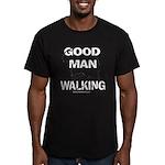 Good Man Walking Men's Fitted T-Shirt (dark)