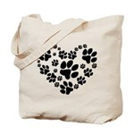 Paws Heart Tote Bag