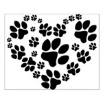 Paws Heart Small Poster
