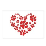 Paws Heart Postcards (Package of 8)