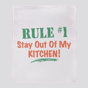 Kitchen Cook Rules Throw Blanket