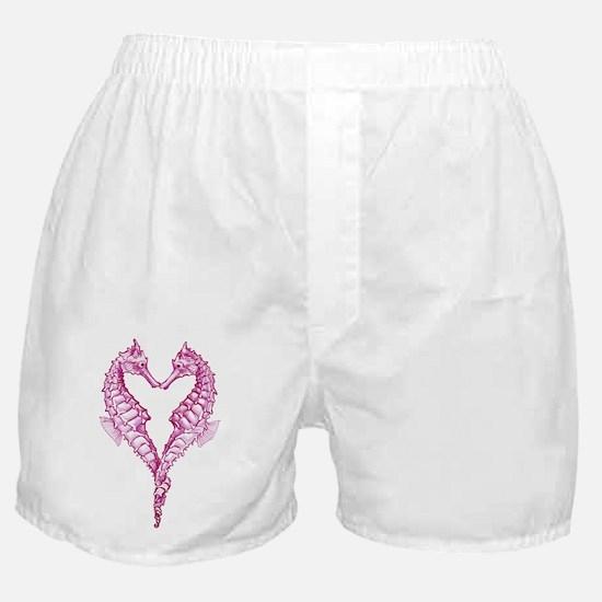 Seahorses heart Boxer Shorts