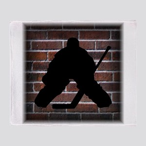 Hockey Goalie Throw Blanket