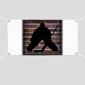 Hockey Goalie Banner