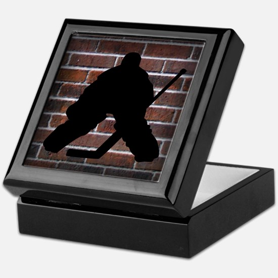 Hockey Goalie Keepsake Box