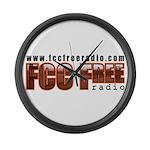 FCC Free Large Wall Clock