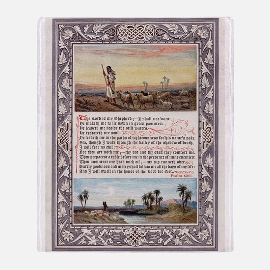 THE LORDS PRAYER PSALM 23 Throw Blanket