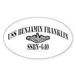 USS BENJAMIN FRANKLIN Sticker (Oval)