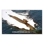 USS BENJAMIN FRANKLIN Sticker (Rectangle)
