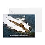 USS BENJAMIN FRANKLIN Greeting Card