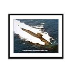 USS BENJAMIN FRANKLIN Framed Panel Print