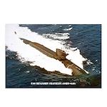 USS BENJAMIN FRANKLIN Postcards (Package of 8)