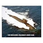 USS BENJAMIN FRANKLIN Small Poster